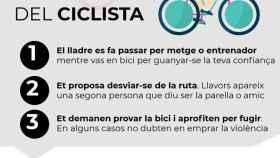 La estafa del ciclista de la que alertan los Mossos