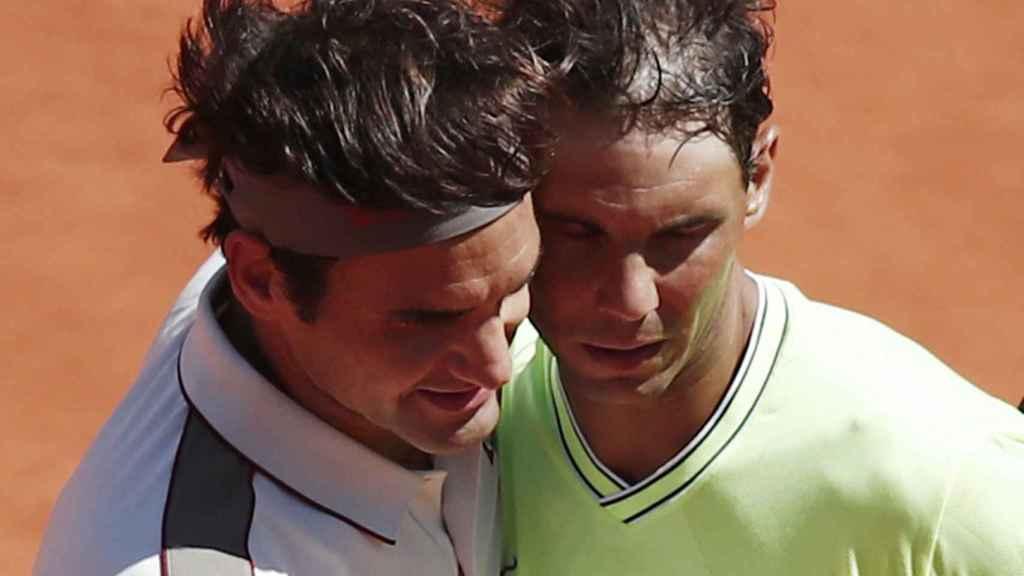 Nadal y Federer en Roland Garros
