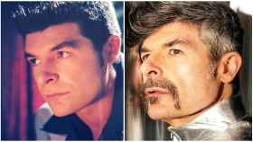 Nacho Guerreros en un montaje de JALEOS: a la izquierda, con 26 años; y a la derecha con 48 años.