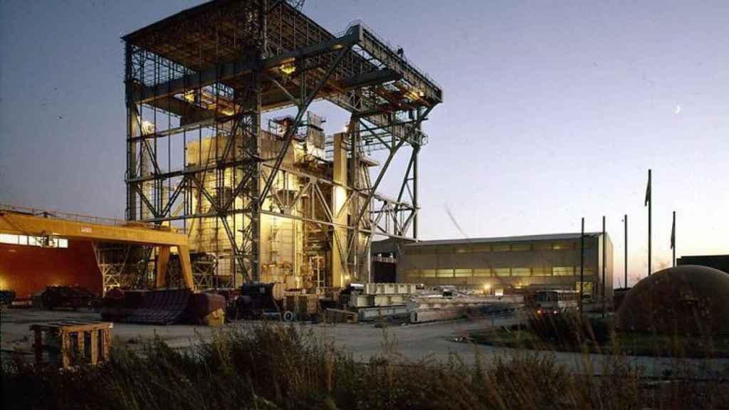 Imágenes de la construcción de la central nuclear de Vandellós