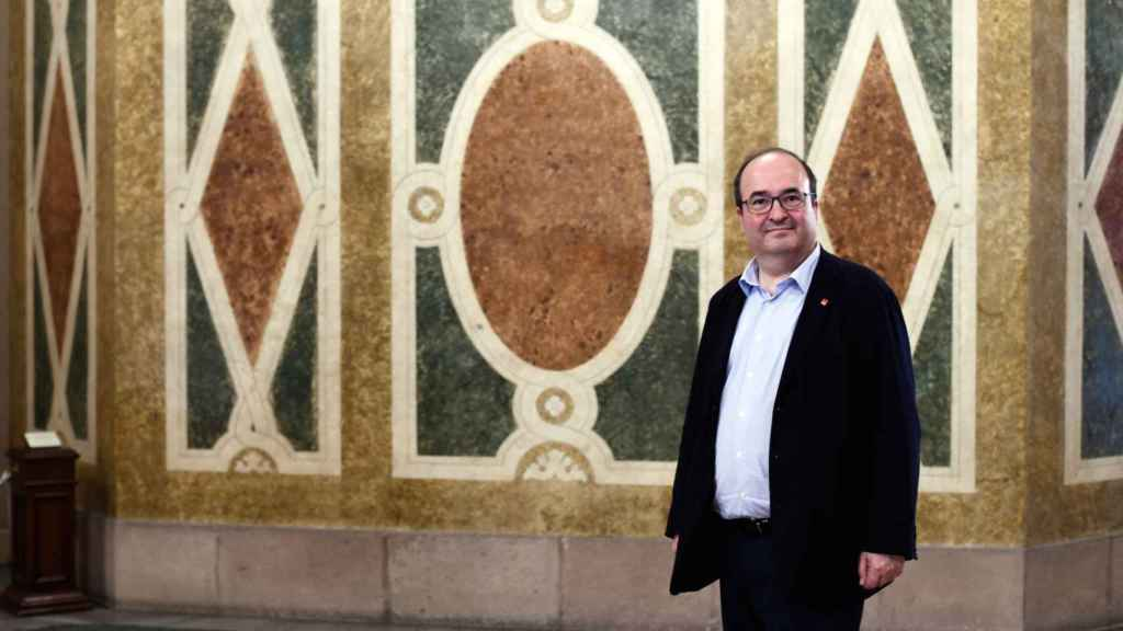 Miquel Iceta, esta semana en el Parlament de Cataluña.