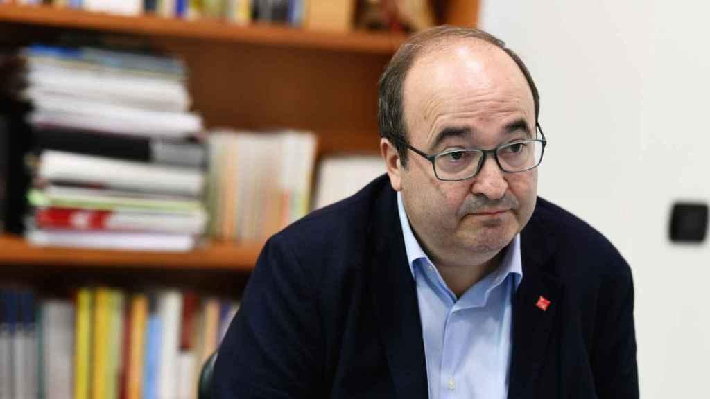 El primer líder del PSC, Miquel Iceta, en un momento de la entrevista.