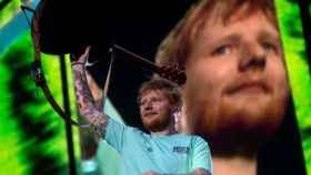 El cantante británico Ed Sheeran, este viernes en Barcelona.