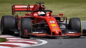 Vettel, durante el GP de Canadá