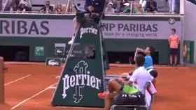 Bronca entre Djokovic y el juez de silla