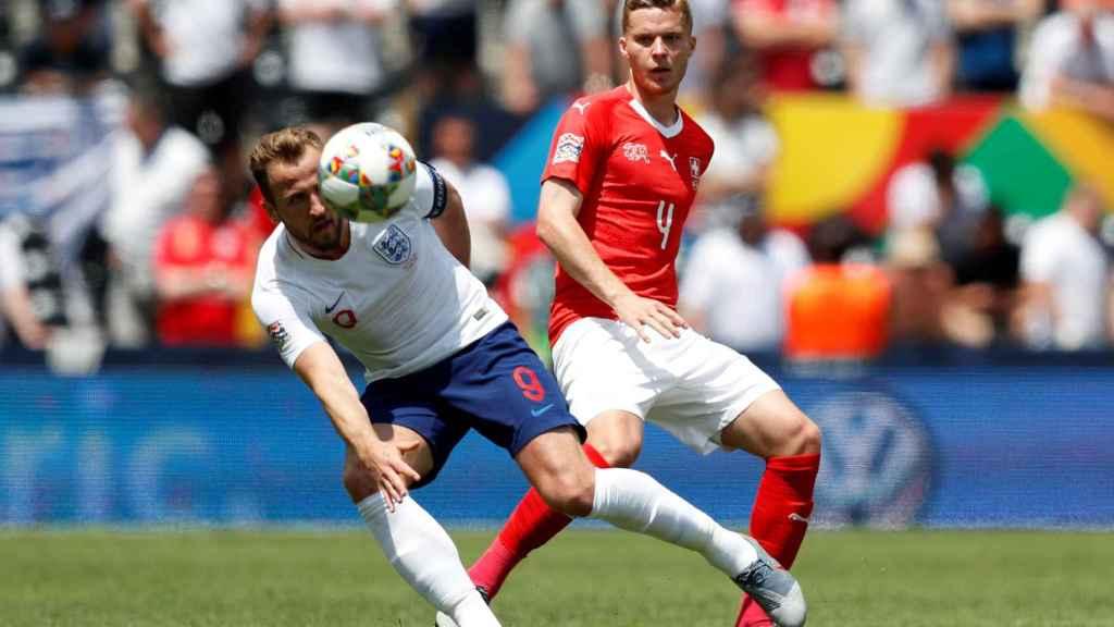 Harry Kane, en el Suiza - Inglaterra de la UEFA Nations League