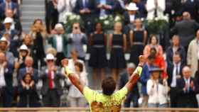 Rafael Nadal celebra su 12º título de Roland Garros