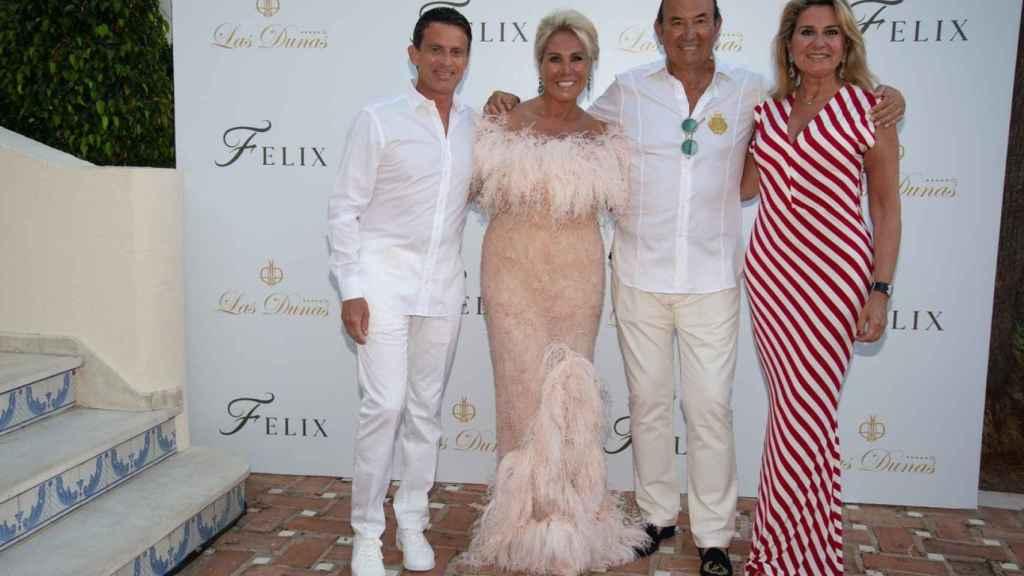 Manuel Valls, Luisa Rodríguez, Félix Revuelta y Susana Gallardo, en el 'photocall' de este sábado en Marbella.
