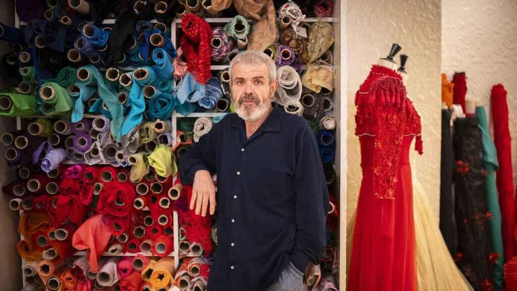 El modista Lorenzo Caprile.