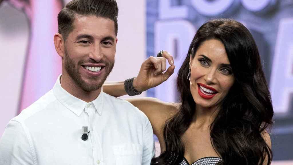 Sergio Ramos y Pilar Rubio en 'El Hormiguero'.