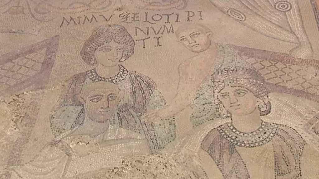 Imagen del gran mosaico figurativo romano.