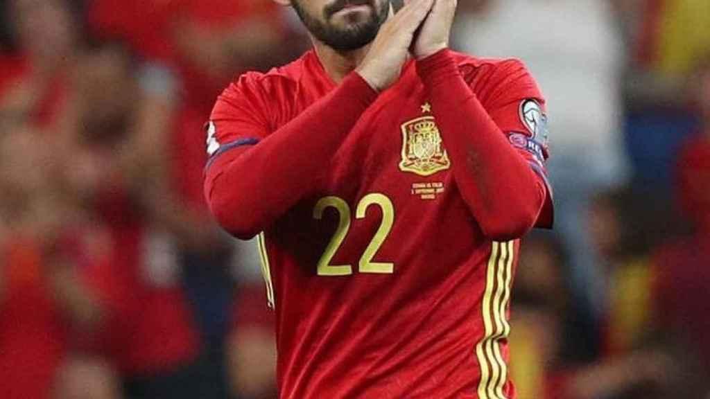 Isco, en un partido de la selección española. Foto: Instagram (@iscoalarcon)
