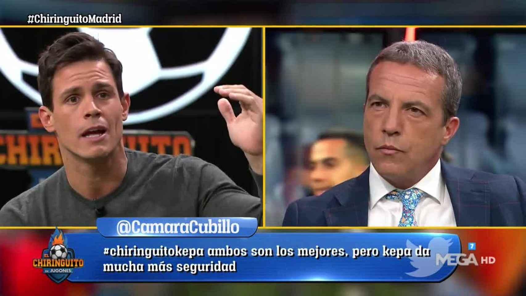 Edu Aguirre en El Chiringuito. Foto: (@elchiringuitotv)