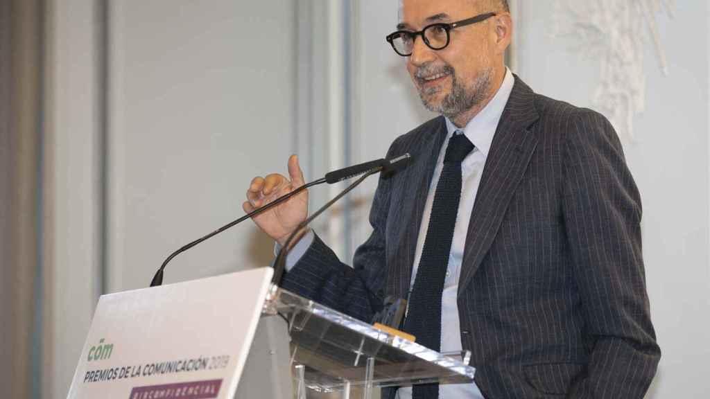 Andrés Rodríguez, editor y presidente de Spainmedia, durante la entrega de galardones.