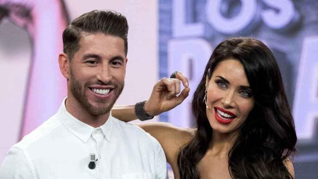 Sergio Ramos y Pilar Rubio durante su paso por 'El Hormiguero'.