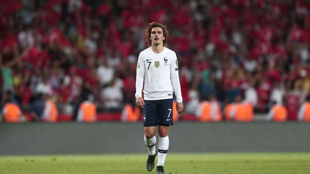 Griezmann con la selección de Francia