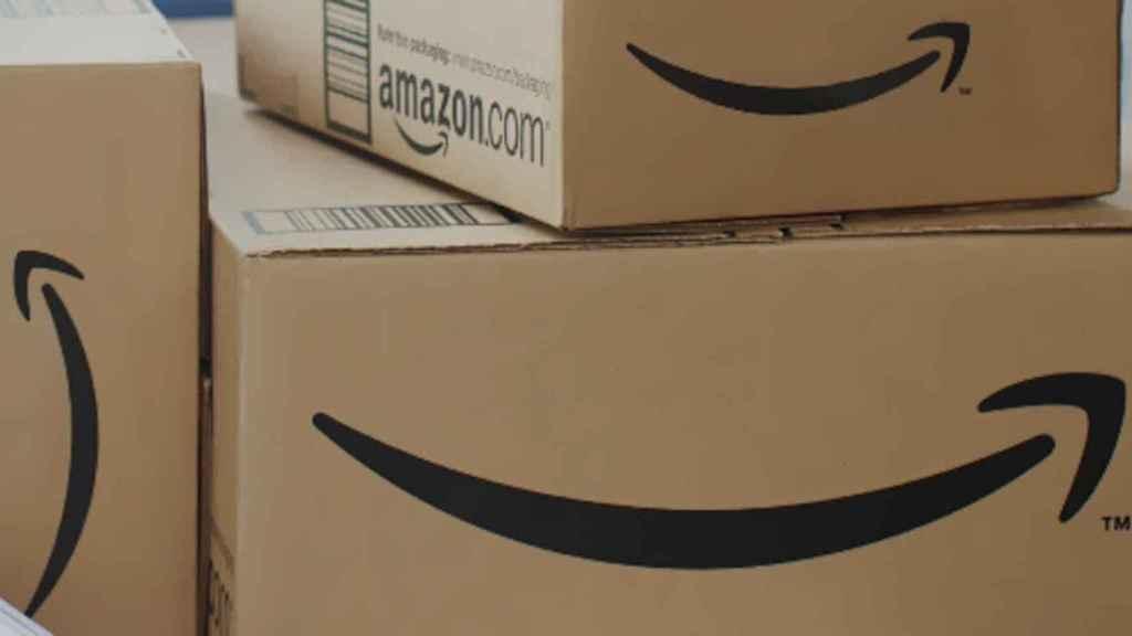 Una caja de Amazon en una imagen de archivo.