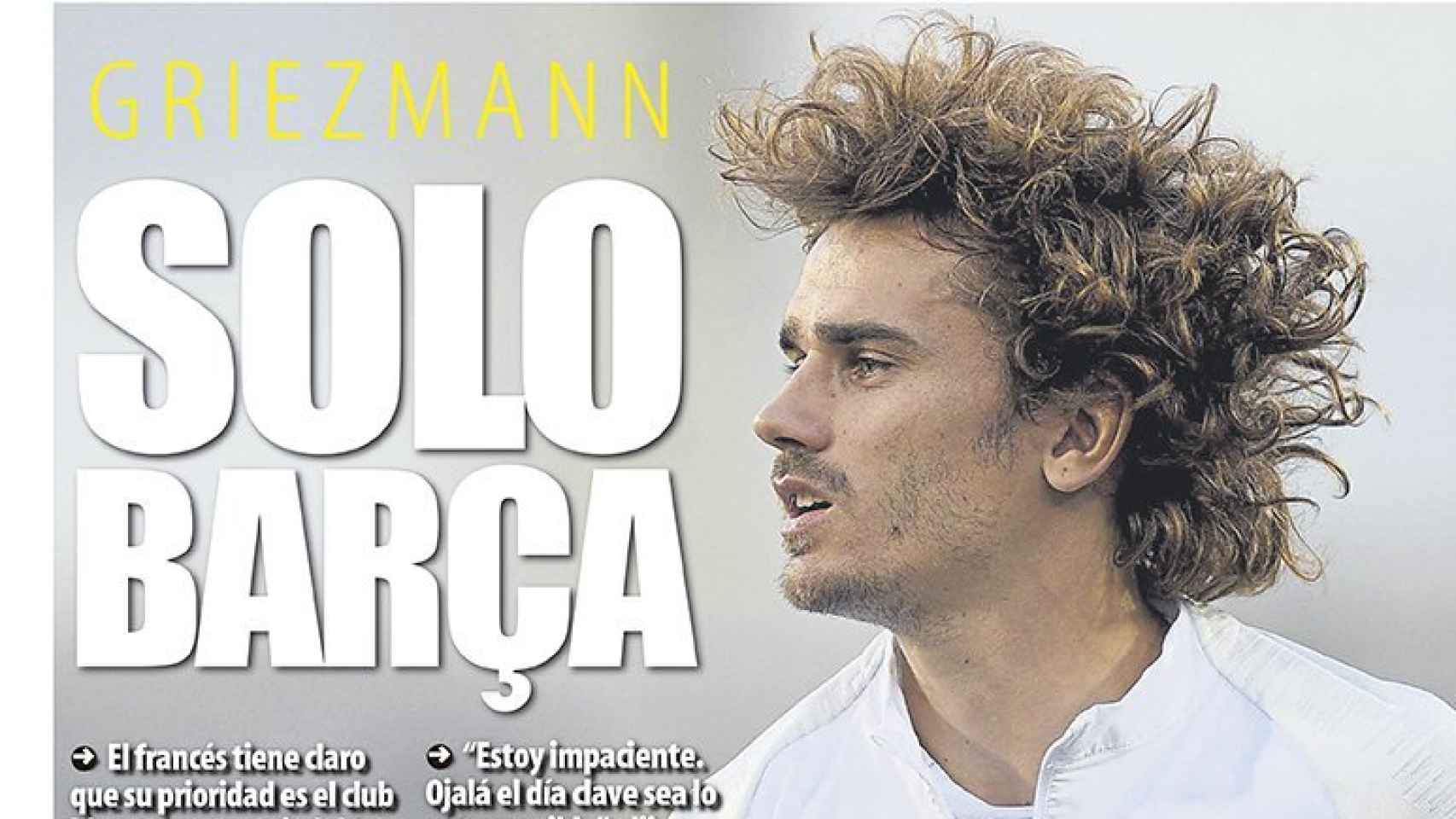 Portada diario Mundo Deportivo (12/06/2019)