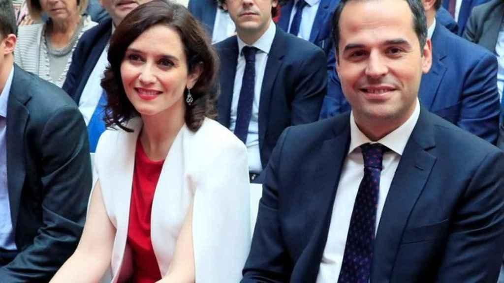 Isabel Díaz Ayuso (PP) e Ignacio Aguado (Cs), candidatos a la presidencia de la Comunidad de Madrid.
