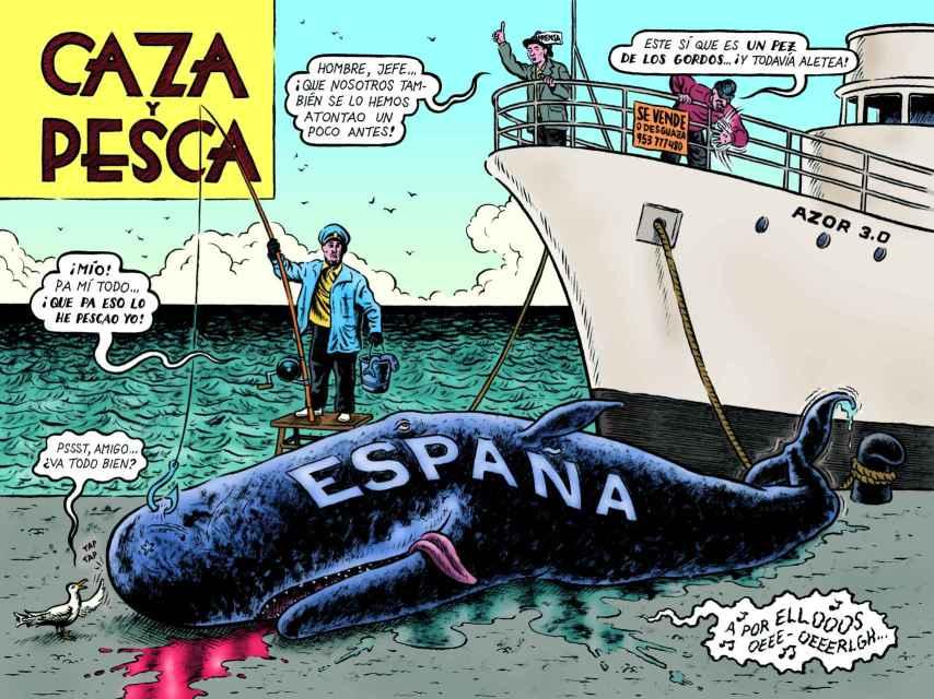Ilustración incluida en 'Diccionario del franquismo'.
