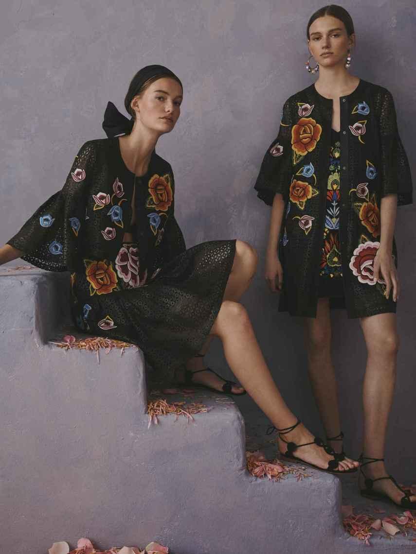 Diseños con bordados inspirados en las comunidades mexicanas.