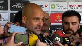 Pep Guardiola atiende a la prensa