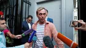 El periodista Ivan Golunov tras su liberación.