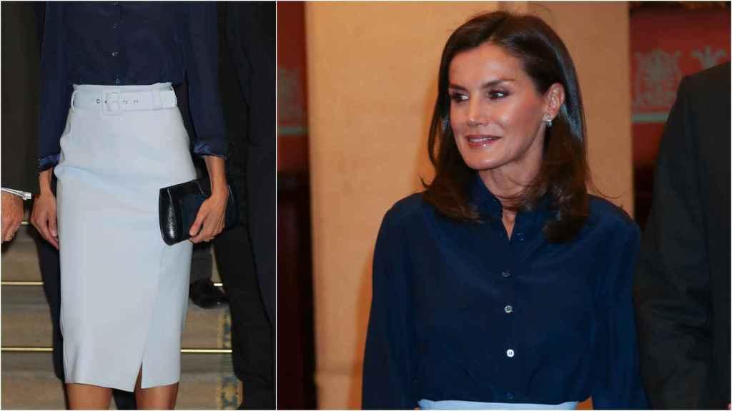 La reina Letizia ha asistido al pleno de la Real Academia Española.