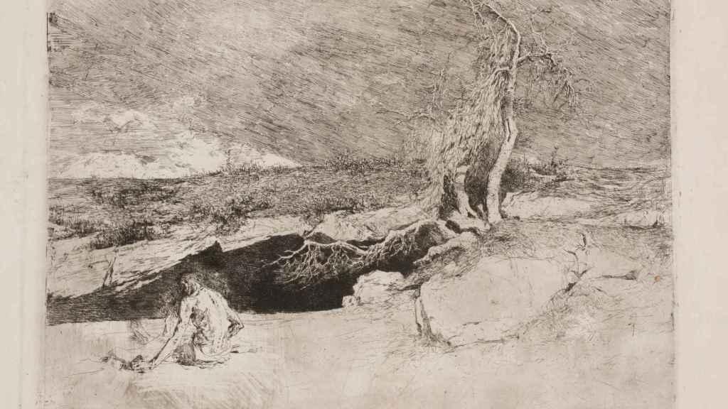 Anacoreta, de Mariano Fortuny, obra del Museo del Prado.