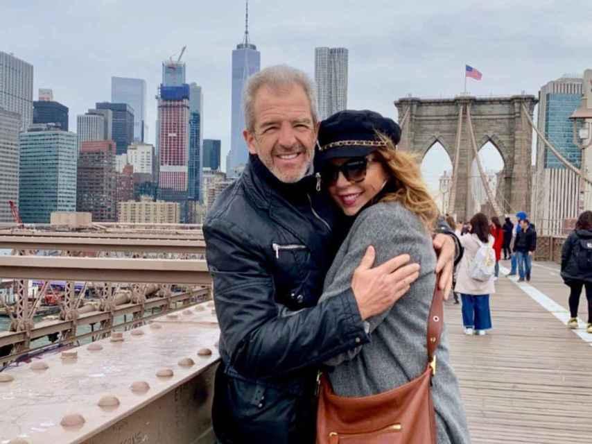 Belinda Washington y su marido Luis Lázaro en la ciudad de Nueva York.