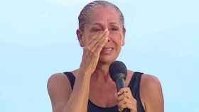 Isabel Pantoja, emocionada en una de las galas de 'Supervivientes'