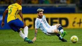 Un partido entre Brasil y Argentina