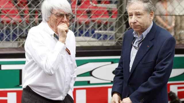 Berni Ecclestone, expresidente de la Formula 1, y Jean Todt, exTeam Manager de Ferrari y actual presidente de la FIA