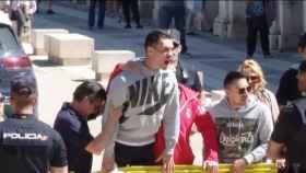 Adrián, marido de Montse, este miércoles en los juzgados de Aranjuez.