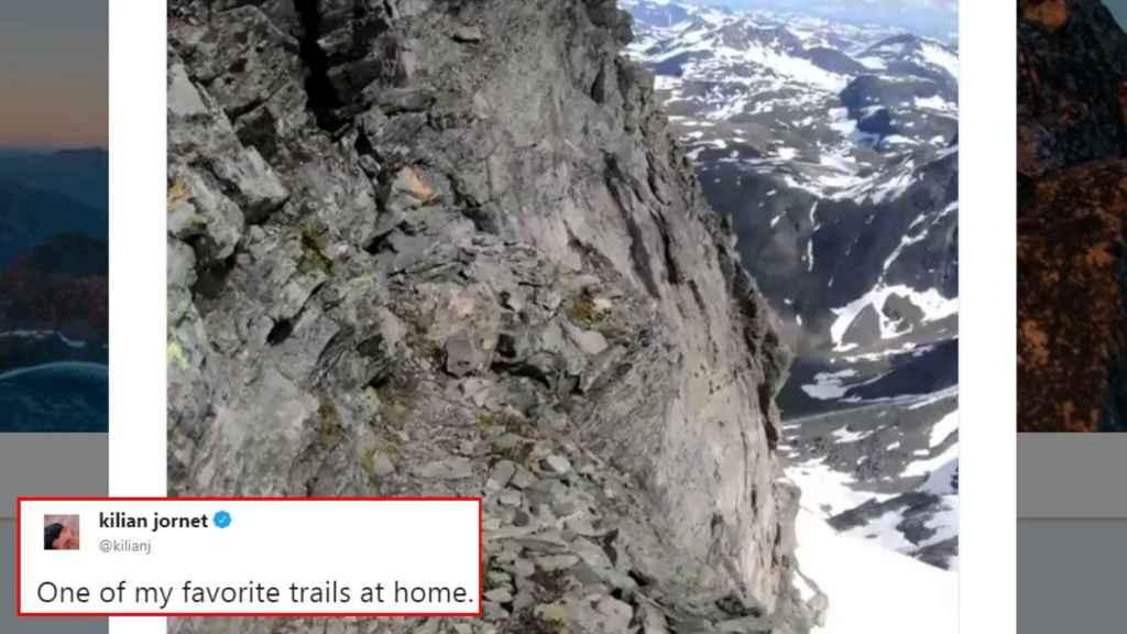 El vertiginoso vídeo de Kilian Jornet.