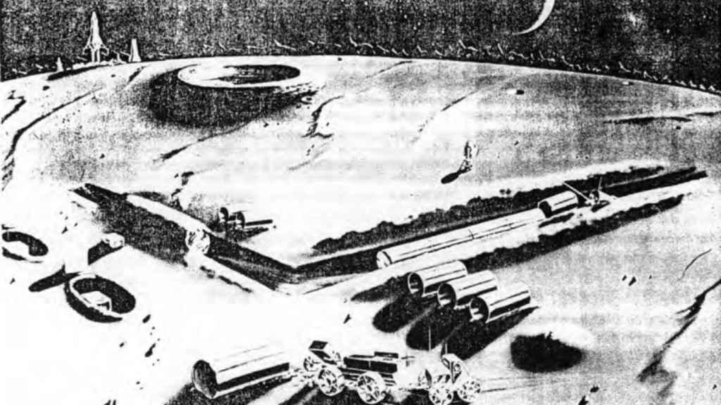 La base lunar proyectada por el proyecto Horizon.