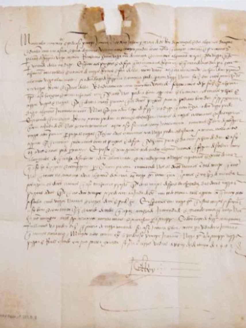 La otra carta de Juan II a Fernando el Católico, fechada el 25 de mayo de 1493.