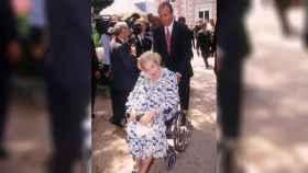 El Rey Emérito en silla de ruedas