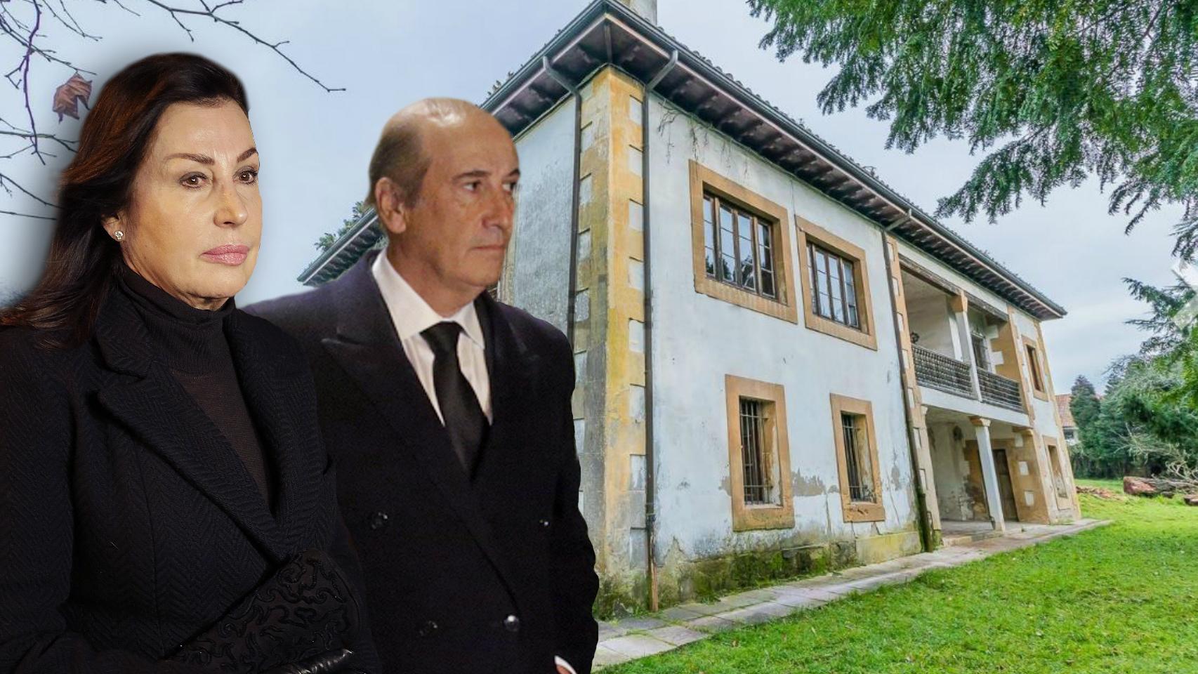 La casa de los Franco en un montaje junto a Carmen Martínez-Bordiú y Francis Franco.