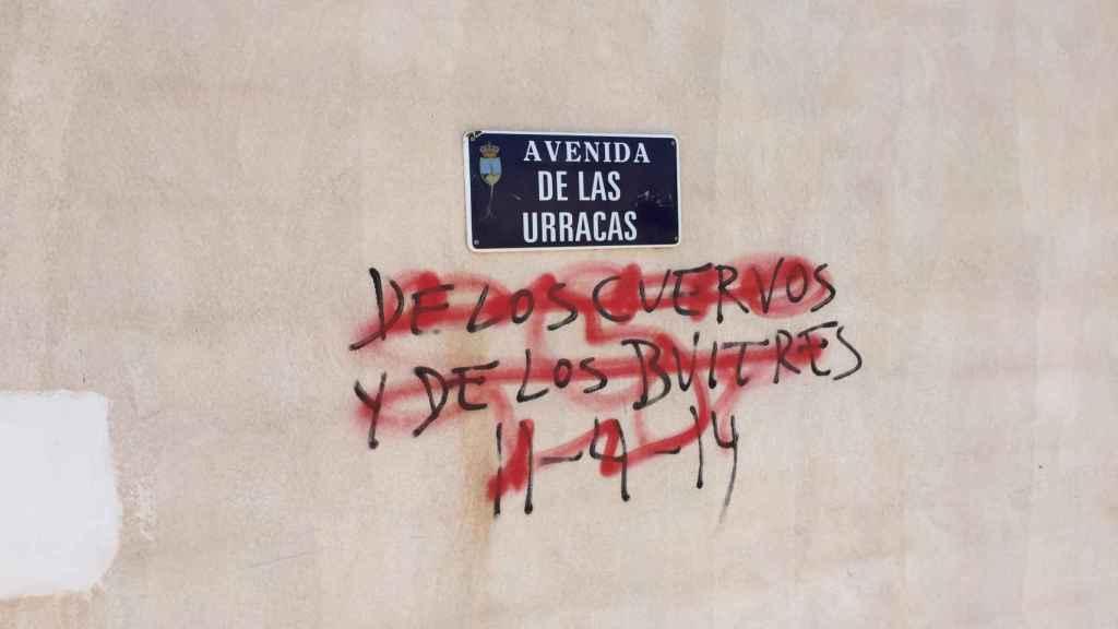 Pintada en la Avenida de las Urracas