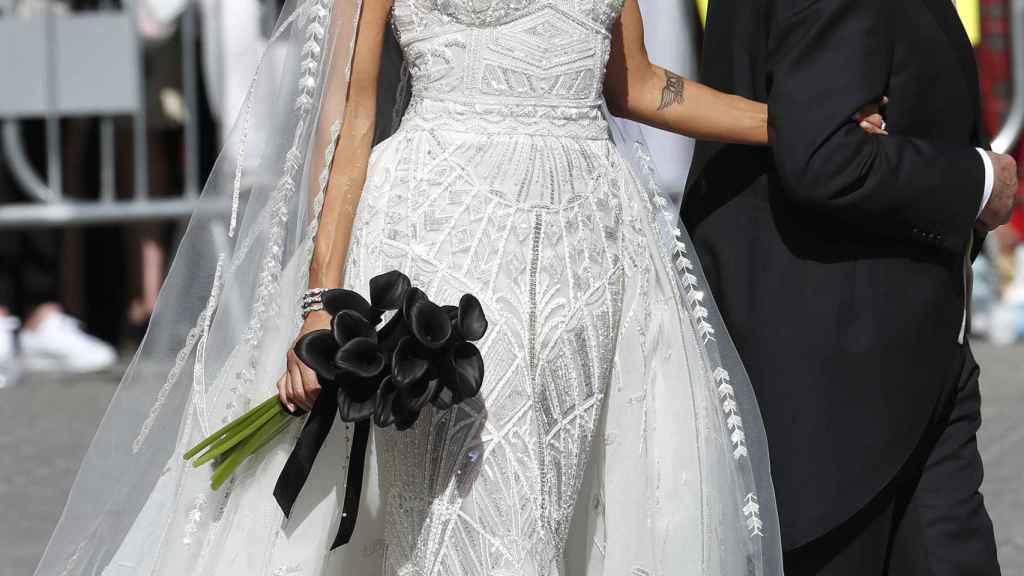 Pilar Rubio ha sorprendido a todos con su 'vestido de gitana' para su gran día.