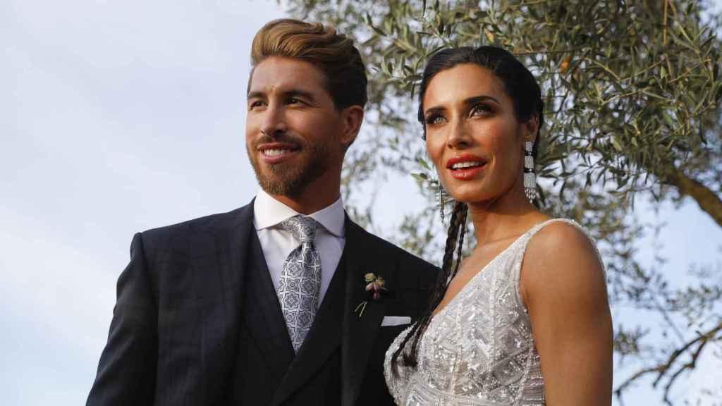 Sergio Ramos y Pilar Rubio han contestado a todas las dudas de los periodistas en su boda.