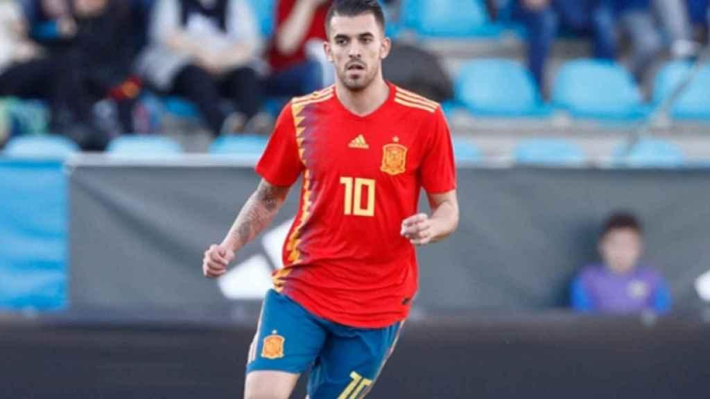 Ceballos, con la selección española de fútbol. Foto: sefutbol.com