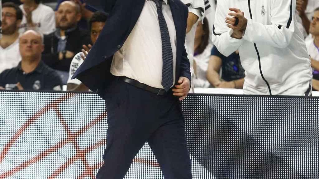Pablo Laso en la final de la Liga ACB