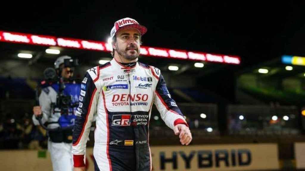 Fernando Alonso con Toyota en el Mundial de Resistencia.