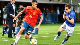 Dani Ceballos, en el partido de la selección española sub21 ante Italia en el Europeo
