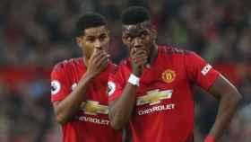 Paul Pogba y Rashford en el Manchester United