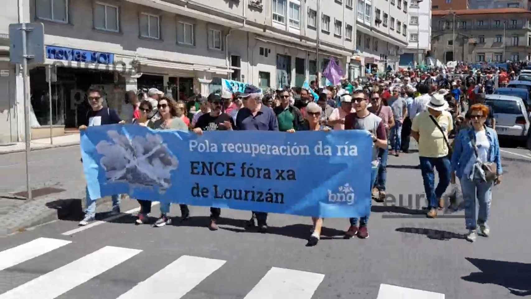 Marcha en Pontevedra y Marín para exigir que Ence abandone la ría.