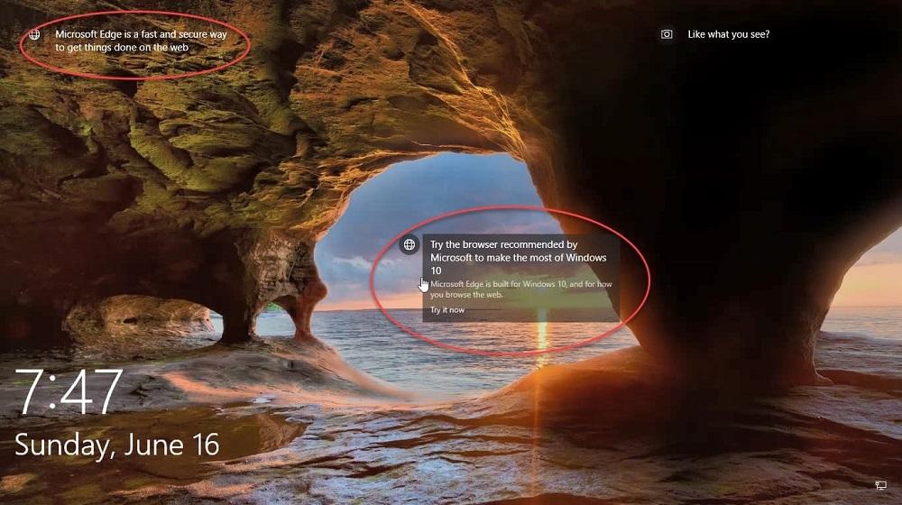 Anuncios Windows 10 2