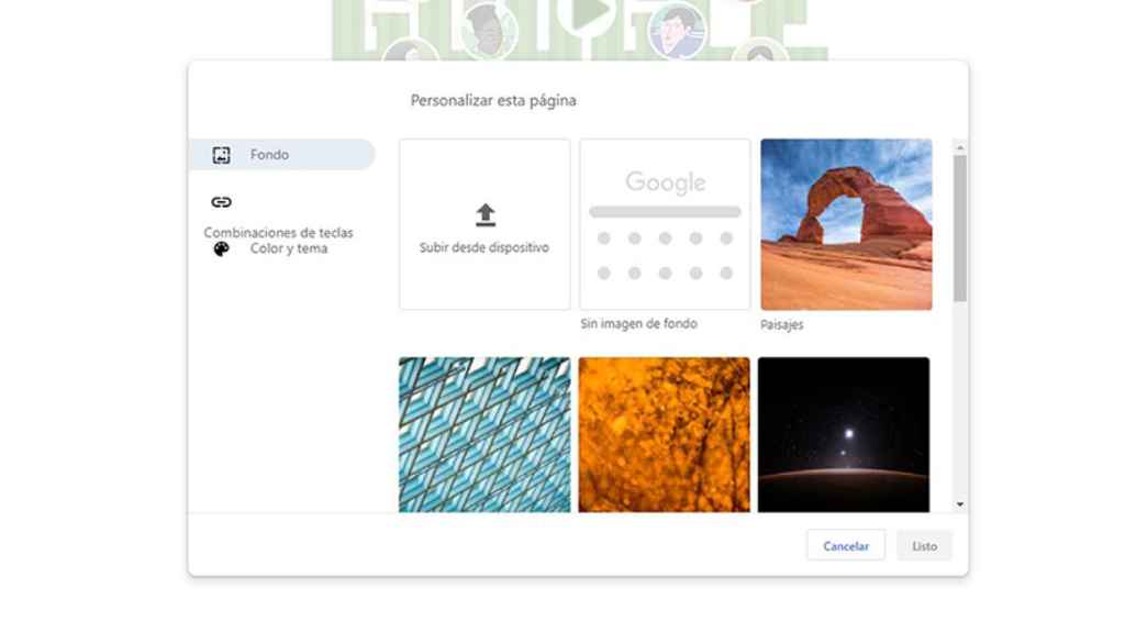 Temas Google Chrome 1